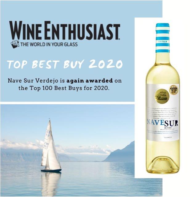 Navesur Verdejo ZNOVU mezi TOP 100 BEST BUY podle WineEnthusiast